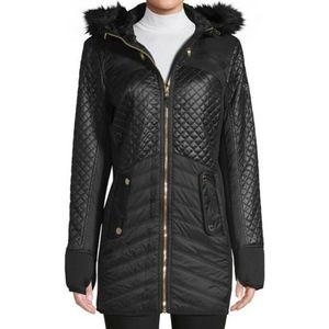 Michael Kors Women's Hooded Quilted Coat Jacket
